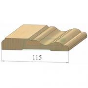Наличник сосна Фигурный 115 в комп. (2200 х 2 +1100)  Экстра сра