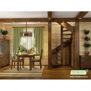 Лестница деревянная ЛС-1.2хм