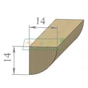 Раскладка сосна Угловая 14 х 14 х 2200 Экстра сращенный