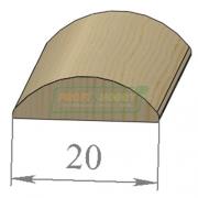 Раскладка сосна Овальная 20 х 2200 Экстра сращенный