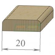 Раскладка сосна Гладкая 20 х 2200 Экстра сращенный