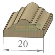 Раскладка сосна Фигурная 20 х 2200 Экстра сращенный