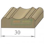 Раскладка сосна Фигурная 30 х 2200 Экстра сращенный