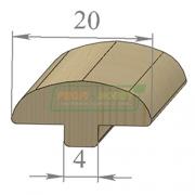 Раскладка сосна Грибок 20 х 2200 Экстра сращенный
