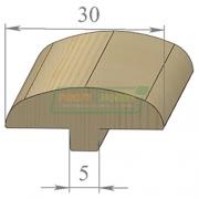 Раскладка сосна Грибок 30 х 2200 Экстра сращенный