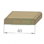 Раскладка сосна Гладкая 40 х 1500 Экстра цельный